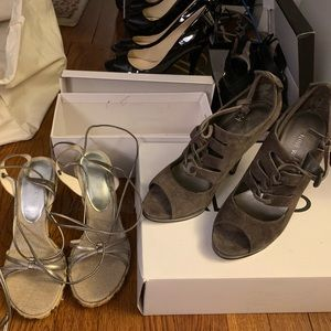 GUESS Strap Wedges and 9WEST Heels